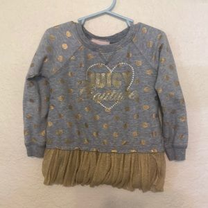 JUICY COUTURE | Girls Gold Tutu Sweater